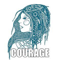 Courage. De stam van het Engelse woord voor moed, courage, is 'cor', het Latijnse woord voor hart. Courage hebben betekende oorspronkelijk: zeggen wat je op je hart hebt. Praat open en eerlijk over wie je bent, over wat je voelt en over je ervaringen (goede en slechte). #courage #moed #moedigzijn #maureenvertelt #kwetsbaar #enlight #brenebrown #maureentekent