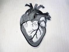 "Gray Heart 7"" tall x 5"" wide"