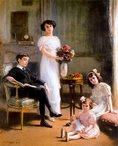 Ramon Casas i Carbó (1866-1932) — Retrato de la familia Sánchez de Larragoiti,1912 (647X800)