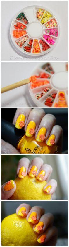 $1.99 120pcs Lovely Fruit 3D Nail Art Fimo Decals Manicure w/box - BornPrettyStore.com