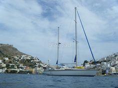 Amel Santorin sailboat in Greek Island