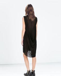Image 4 of DRAPED NECK DRESS from Zara