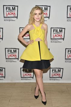 Kiernan Shipka's Delpozo dress. See 7 other celebrities whose early spring outfits killed it.
