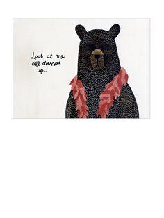 Michelle Carlslund Bear Dressed Up Karte A5