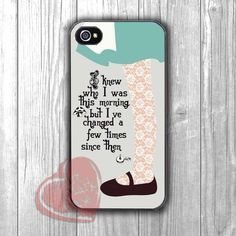 Alice in Wonderland Quote -wndh for iPhone 4/4S/5/5S/5C/6/6+,samsung S3/S4/S5/S6 Regular/S6 Edge,samsung note 3/4
