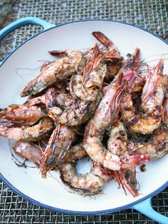 BBQ Australian prawns using Australian native ingredients. Prawn Recipes, Seafood Recipes, Cooking Recipes, Healthy Recipes, Aussie Bbq, Aussie Food, Ny Food, New York Food, Fish Dishes