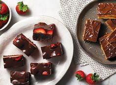 Chocolate-Covered Strawberry Brownie Bars and Shortbread Caramel-Chocolate Bars | Publix Simple Meals