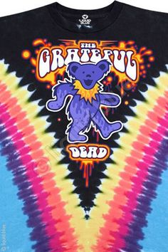 Grateful Dead Tie Dye T Shirt - Dancing Bear – Blue Mountain Dyes - Free Shipping over $10