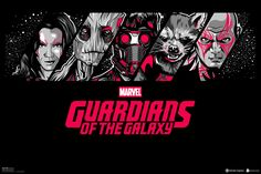 """Another fan-made Marvel's """"Guardians of the Galaxy"""" poster, with art by Salvador Anguiano Zapiain."""