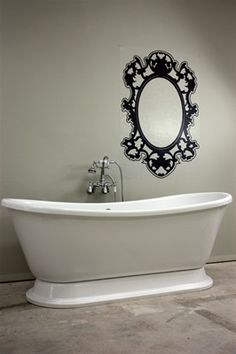 Vintage Whirlpool Air Jetted Free Standing Pedestal Bath Tub with Integrated Blower...the only thing better than a jetted tub is a free standing jetted tub!