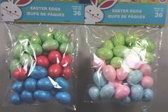 "36 pc 1"" Glittered Foam Eggs Easter Crafts Decorations Pink Blue Green U Pick  #Unbranded"