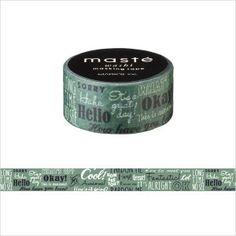 Japanese Washi Tape / Masking tape Multi Amazing life Greeting /masté
