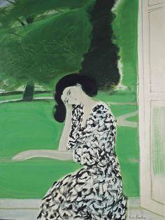 lawrenceleemagnuson:  André Brasilier (France b. 1929)Rêverie devant le parc (1979)oil on canvas 130 x 97cm