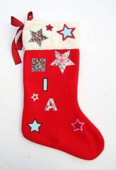 Luxury Personalised Handmade Christmas Stocking Gift - Name: Mia Roses Luxury, Vintage Fabrics, Handmade Christmas, Christmas Stockings, Trending Outfits, Unique Jewelry, Handmade Gifts, Holiday Decor, How To Make