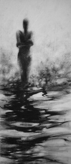 Haunting Figure Drawing Gothic Moody Dark by ClaraLieuFineArt, $150.00