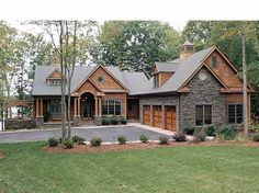 Jaw-Dropping Mix of Ranch & Craftsman Style Home (HQ Plan ...