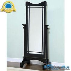 Powell Mission Black Cheval Tilt Floor Mirror Bathroom Bedroom Furniture.  $199.99