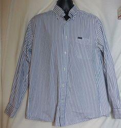 Faconnable Classique Mens Multicolor Striped Long Sleeve Dress Shirt Size L #Faonnable