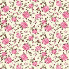 Comprar Tecidos Patchwork Tricoline Estampado Floral Decoupage Vintage, Decoupage Paper, Vintage Paper, Flowery Wallpaper, Pastel Wallpaper, Floral Rosa, Stationery Craft, Flower Backgrounds, Cellphone Wallpaper