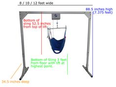 Freestanding Overhead Patient Lift for Home Health Care.