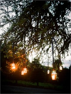 hanging jars used for candles