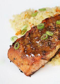 Grilled Maple Mustard Salmon