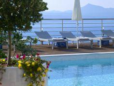 Villa Nissos - Authentic Crete, Villas in Crete, Holiday Specialists Zorba The Greek, Luxury Villa, Outdoor Furniture, Outdoor Decor, Sun Lounger, Swimming Pools, Crete Greece, Beautiful Sunset, Villas