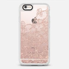 Modern rose gold floral lace illustration by Girly Trend iPhone 6s Case by Girly Trend | Casetify