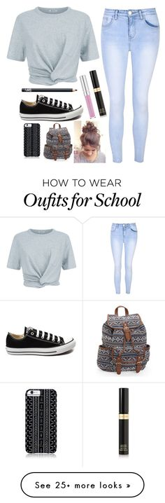 """Lazy Day at School  Why? Because it ended Summer"" by barbiecar on Polyvore featuring T By Alexander Wang, Glamorous, Tom Ford, Converse, NARS Cosmetics, Aéropostale and Savannah Hayes"