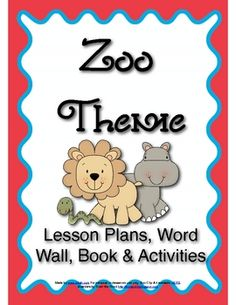 One week preschool zoo theme download.
