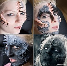 Making of ... Conjuration by Mariusart on deviantart.com. Great special effects halloween makeup Halloween Makeup #halloween #makeup
