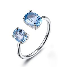 London Blue Topaz /& Blue Fire Opal Inlay 925 Sterling Silver Ring Taille 6,7,8,9