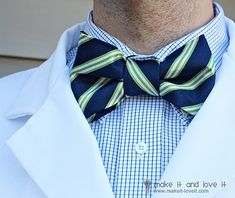 How to make a bow tie from an old tie!!!!     I will be making bow ties for Remy!     @Diane Haan Lohmeyer Haan Lohmeyer Haan Lohmeyer Amick - more repurposed ties