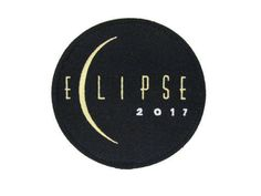 Round Custom Commemorative Collectible Great American Eclipse Patch