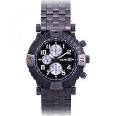 `Stallion I` Unisex Quartz Chronograph Bracelet Watch Black - One Size