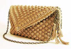 lovely crochet bag pattern #crochetbag #crochetpattern