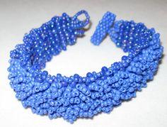 Beautiful seed bead caterpillar bracelet..