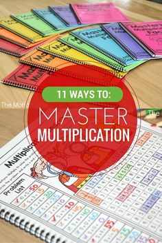11 Ways to Master Multiplication! Mastering Multiplication facts is such an important skill in elementary. If students can master the basics, all other math concepts are so much easier to learn. Check out these engaging, effective and fun ways to build s Math For Kids, Fun Math, Math Help, Math Resources, Math Activities, Math College, Math Intervention, Third Grade Math, 3rd Grade Books