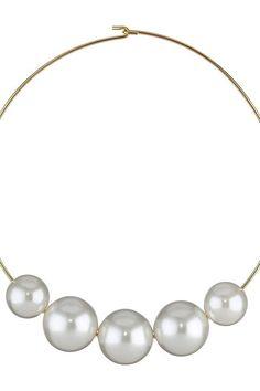 Mizuki 14K Two-Pearl Collar Necklace HH4thWta2H