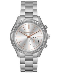 Michael Kors Access Women's Slim Runway Stainless Steel Bracelet Hybrid Smart Watch MKT4004