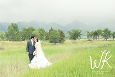 Bride and Groom with the Montana mountains!