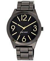 Nine West Women's Gunmetal-Tone Bracelet Watch 42mm NW/1585GNGN