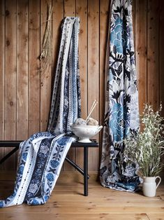 Kardemumma and Manteli curtains Blue Curtains, Finland, Blanket, Bed, Collection, Home Decor, Decoration Home, Stream Bed, Room Decor