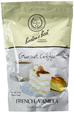 Bostons Best Coffee Roasters  French Vanilla Gourmet Coffee  12 Ounces >>> Check this awesome product by going to the link at the image.