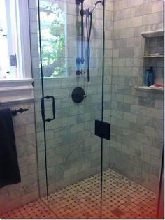 Master Bath Zero Entry Tiled Shower Delta S Zero