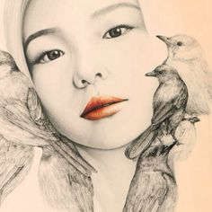 http://k-phenomen.com/2015/01/20/the-girl-and-the-birds-par-okart/ The girl and the birds par OkArt   #illustrateurs #coréens #koreanllustrator #illustrator #seoul #ilustration