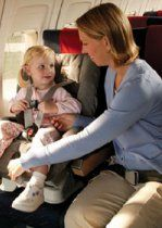 Did you know that the safest place for your child on an airplane is in a government-approved child safety restraint system (CRS) or device, not on your lap? Your arms aren't capable of holding your child securely, especially during unexpected turbulence.