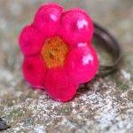 Melted Plastic Bead Rings........cute little idea