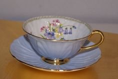 Lovely Shelley Oleander Fine Bone China Cup and by HazelMaes,