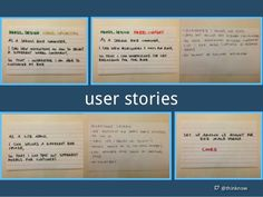User Story examples #agile #ux